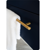 "Picture of Lucera 24"" Royal Blue Wall Hung Undermount Sink Modern Bathroom Cabinet"