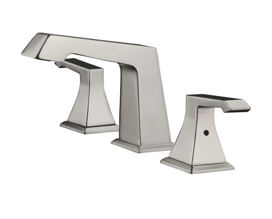 """Picture of 3 Hole 8"""" Widespread Bathroom Faucet - Brushed Nickel"""