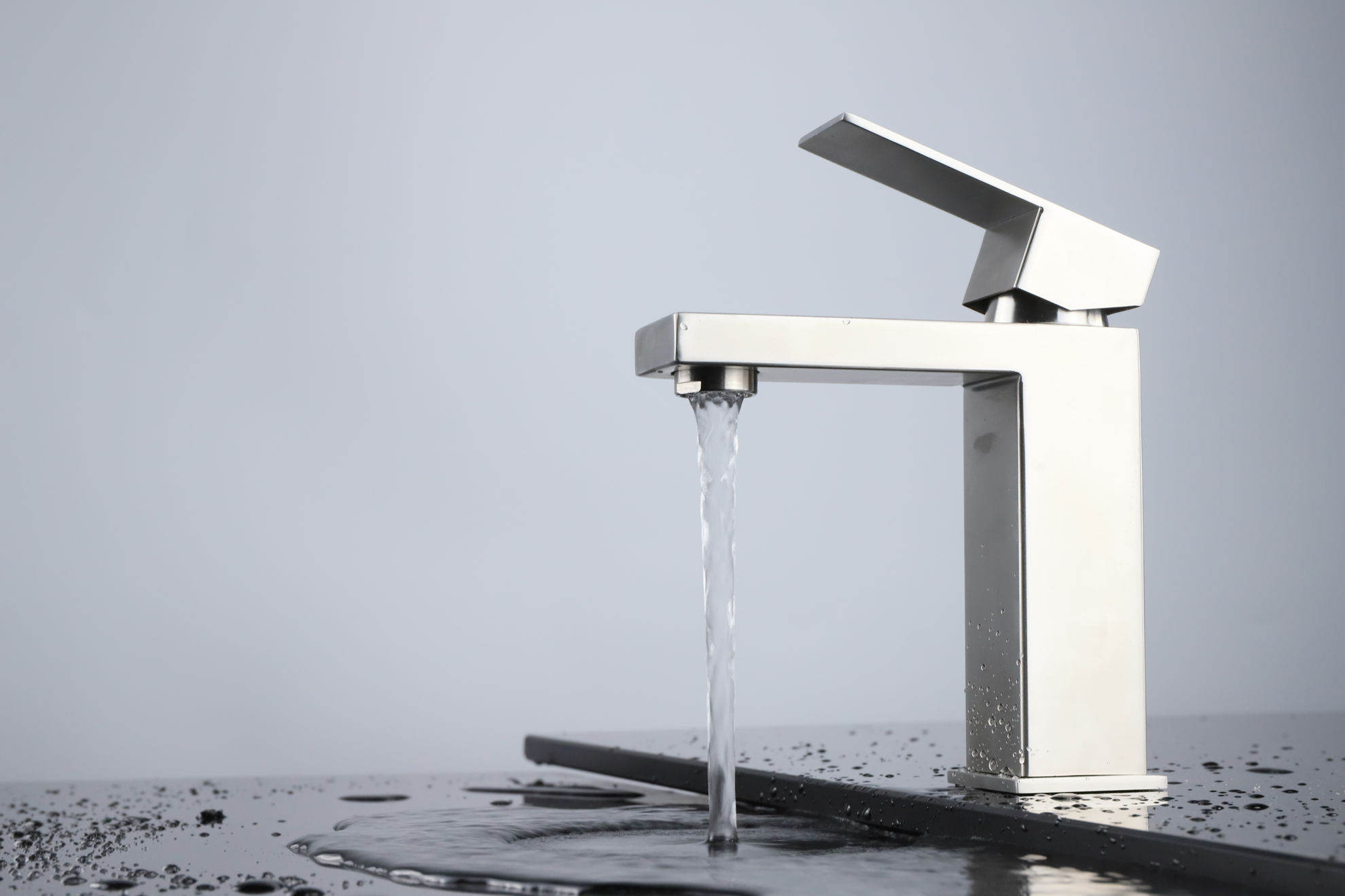 Picture of Single Hole Bathroom Faucet - Satin Nickel