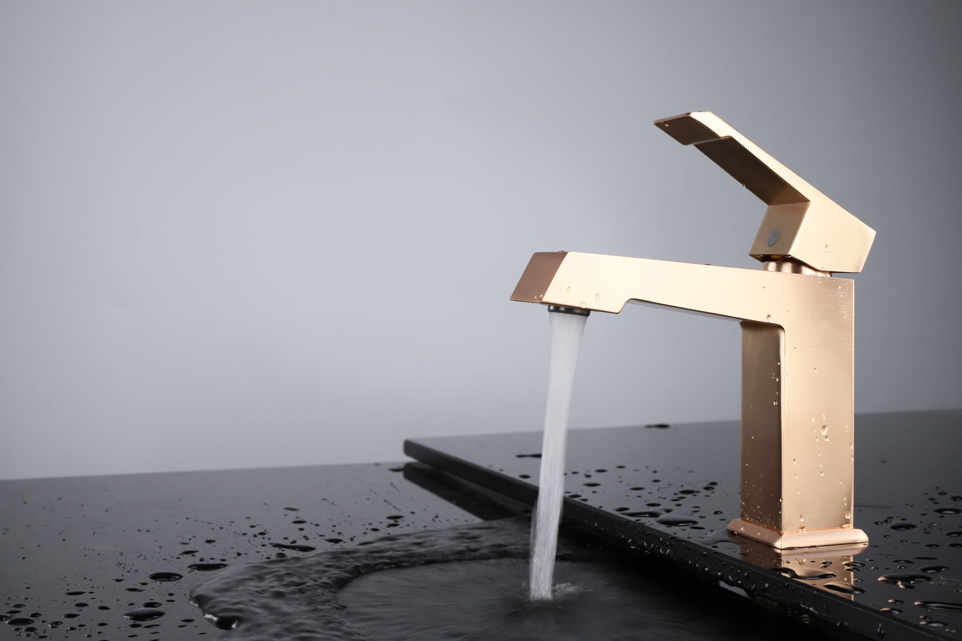 Picture of Single Hole Bathroom Faucet - Rose Gold