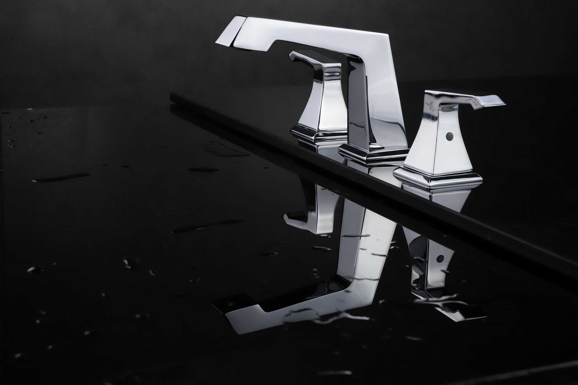 """Picture of 3 Hole 8"""" Widespread Bathroom Faucet - Chrome"""