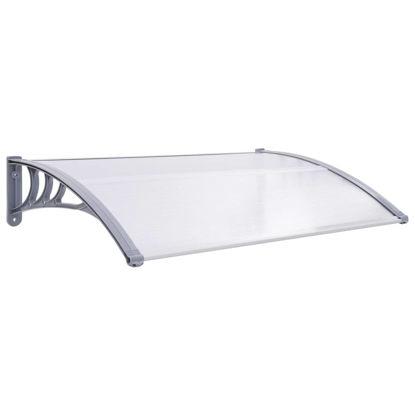 """Picture of Outdoor Door Canopy 47"""" - Gray Transparent"""