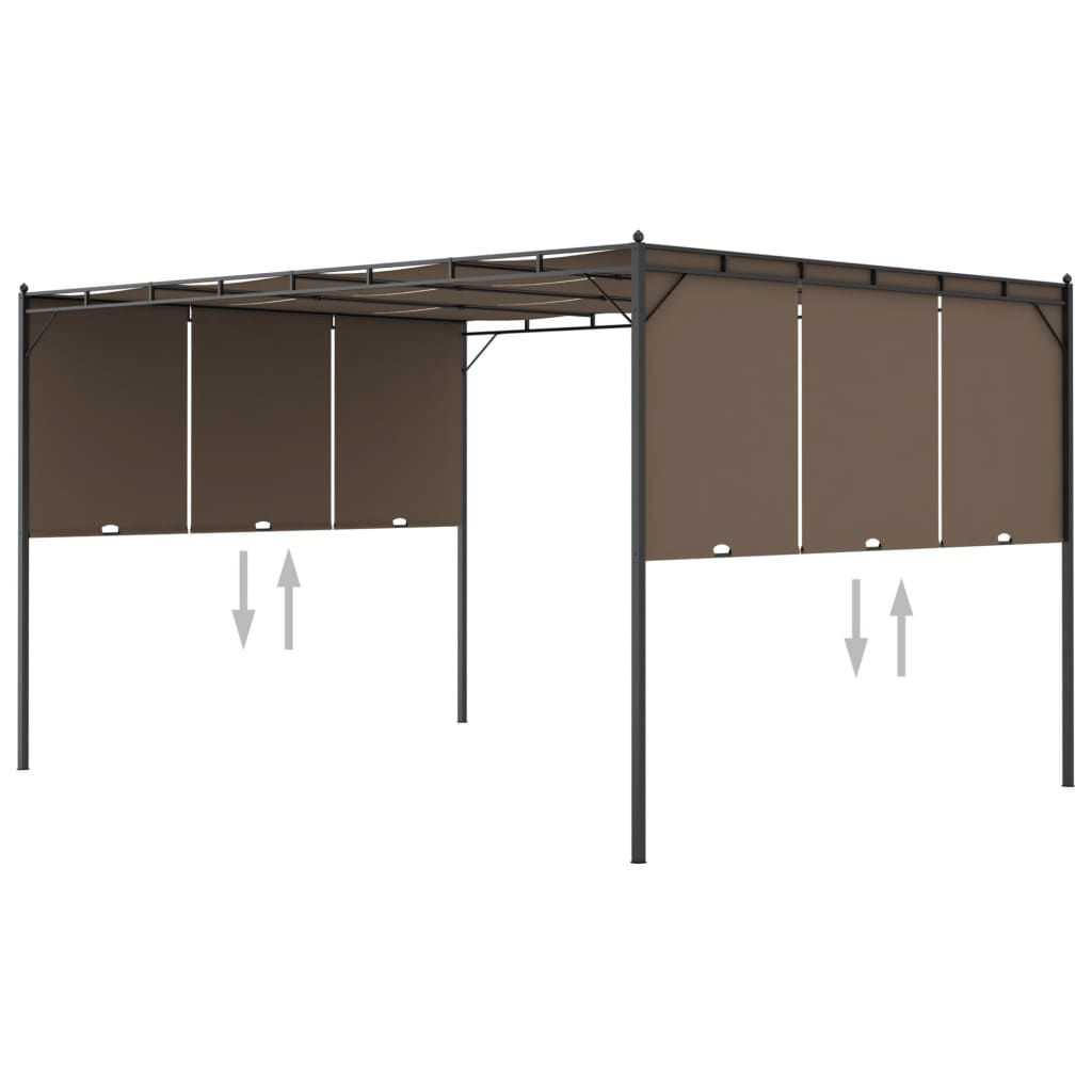 Picture of Outdoor Gazebo with Curtain 13' x 10'