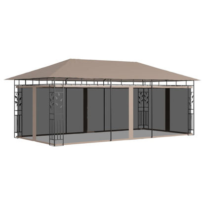Picture of Outdoor Gazebo with Mosquito Net 20' x 10'