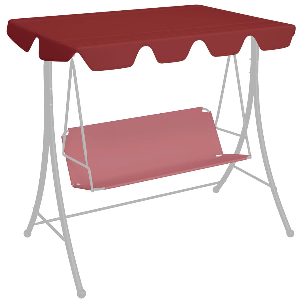 Picture of Outdoor Swing Top Replacement - Wine Red