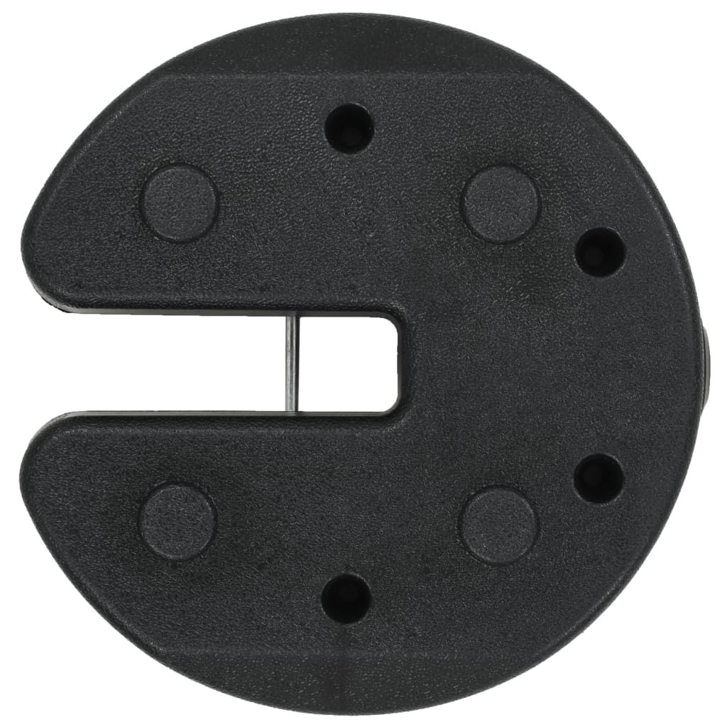 Picture of Outdoor Concrete Gazebo Weight Plates - 4 pc Black