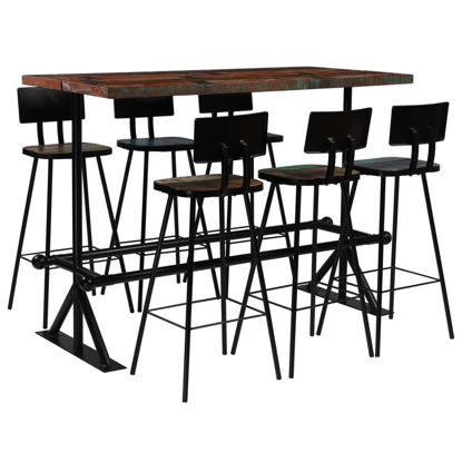 Picture of Wooden Multicolor Bar Set - 7 pc