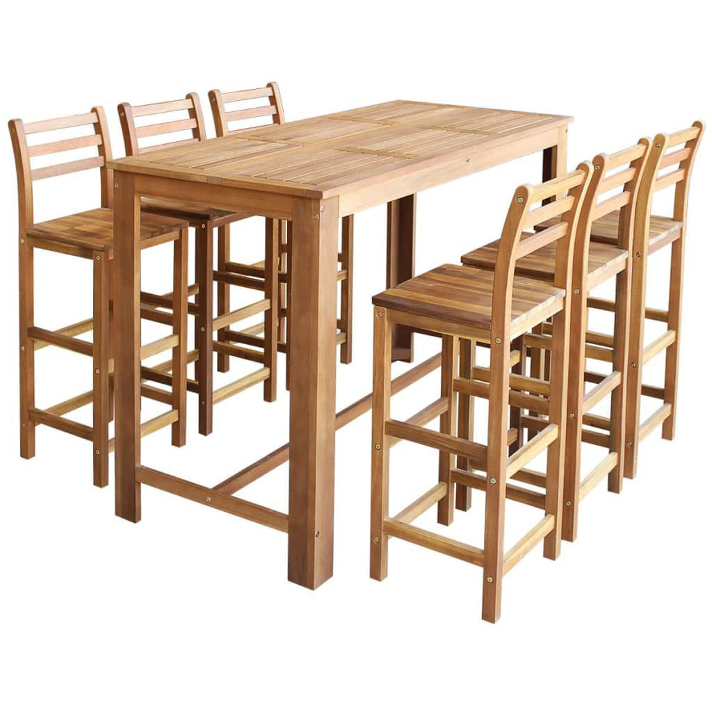 Picture of Wooden Bar Table with Chairs - 7pc