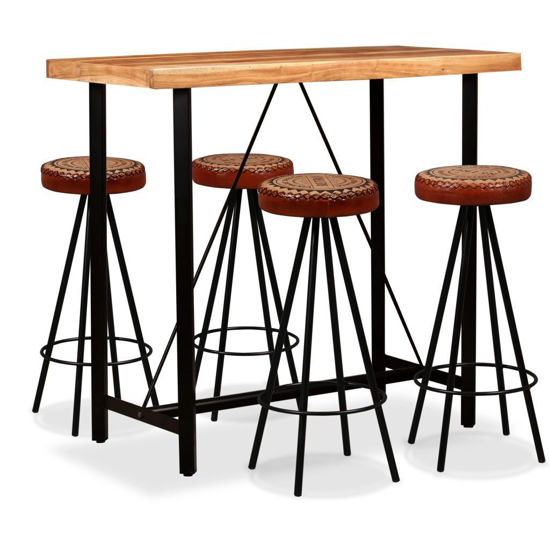 Picture of Wooden Bar Set with Chairs - 5 pc