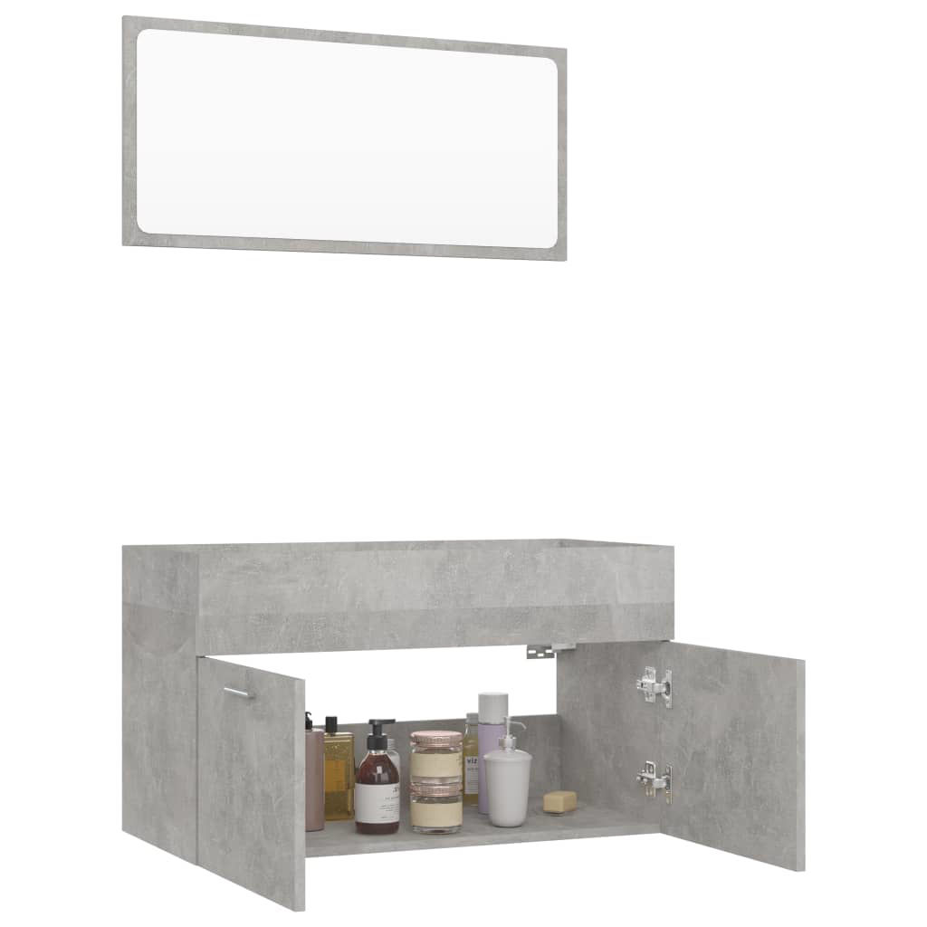 """Picture of 31"""" Bathroom Furniture Set with Mirror - Concrete Gray"""