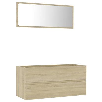 "Picture of 39"" Bathroom Furniture Set with Mirror - Sonoma Oak"