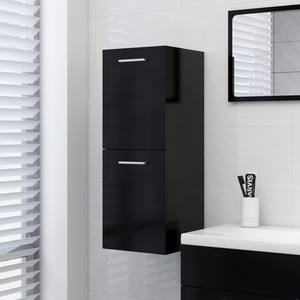 """Picture of 11"""" Bathroom Cabinet - Black"""