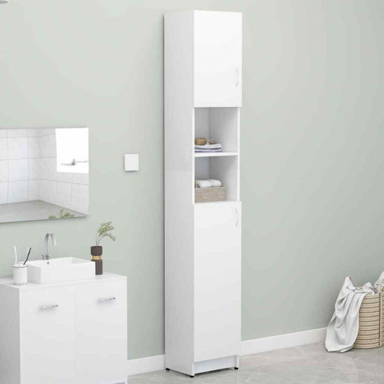 """Picture of 12"""" Bathroom Cabinet - White"""