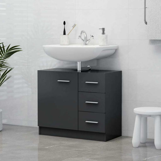 """Picture of 24"""" Vanity Cabinet - Gray"""