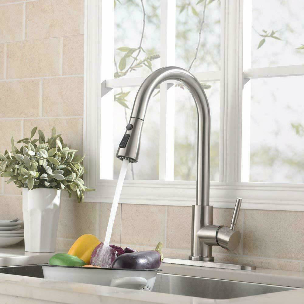 Picture of Kitchen Pull-Out Faucet with Plate