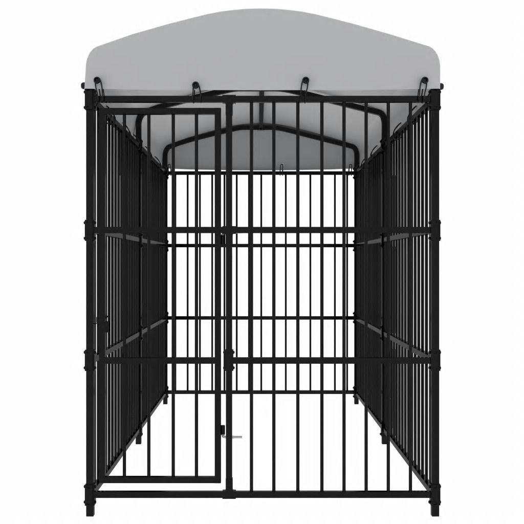 Picture of Outdoor Dog Kennel with Roof
